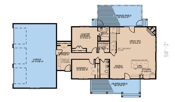 Farmhouse Floor Plan - Main Floor Plan #923-173