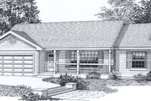 Traditional Exterior - Front Elevation Plan #53-111