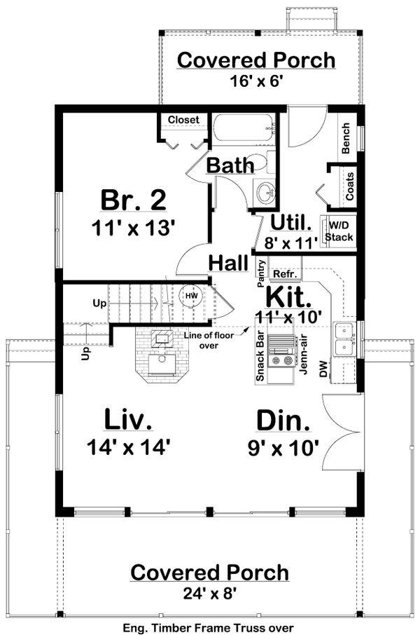 Architectural House Design - Country Floor Plan - Main Floor Plan #126-235