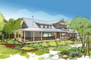 Farmhouse Exterior - Front Elevation Plan #890-7