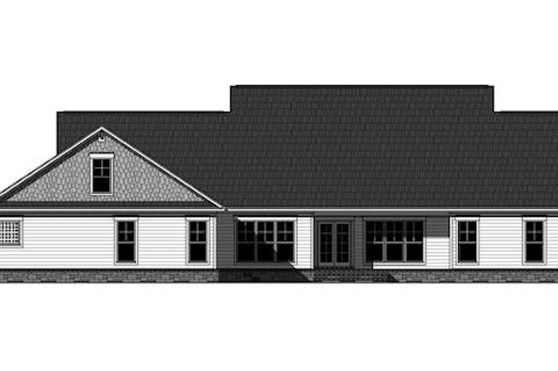Craftsman Exterior - Rear Elevation Plan #21-349 - Houseplans.com