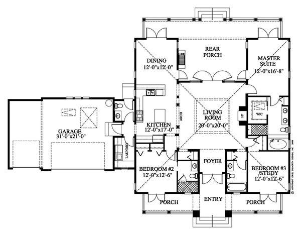Beach Floor Plan - Main Floor Plan Plan #426-15
