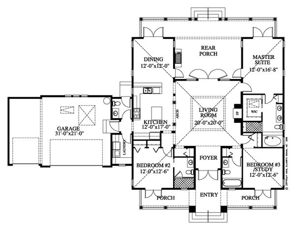 Beach Floor Plan - Main Floor Plan Plan #426-15