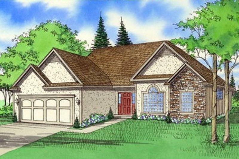 Traditional Exterior - Front Elevation Plan #405-110 - Houseplans.com