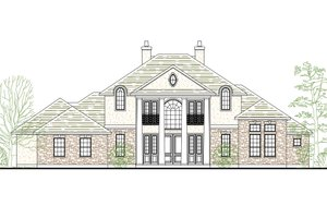 House Plan Design - Colonial Exterior - Front Elevation Plan #80-181