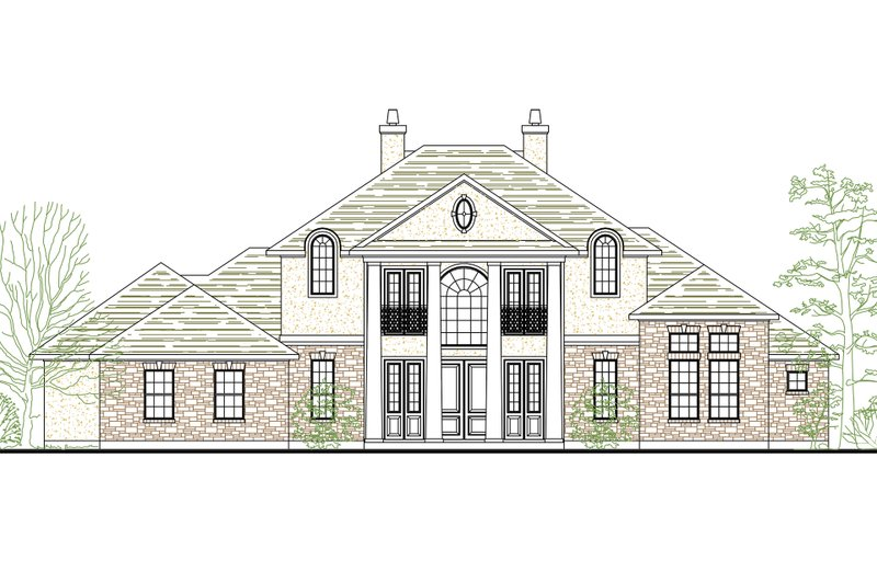 Architectural House Design - Colonial Exterior - Front Elevation Plan #80-181