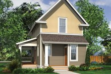 Colonial Exterior - Rear Elevation Plan #48-975