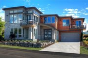 Modern Style House Plan - 4 Beds 3.5 Baths 3310 Sq/Ft Plan #1066-2 Exterior - Front Elevation