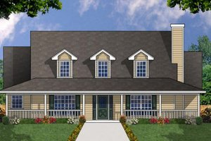 Home Plan - Farmhouse Exterior - Front Elevation Plan #40-328