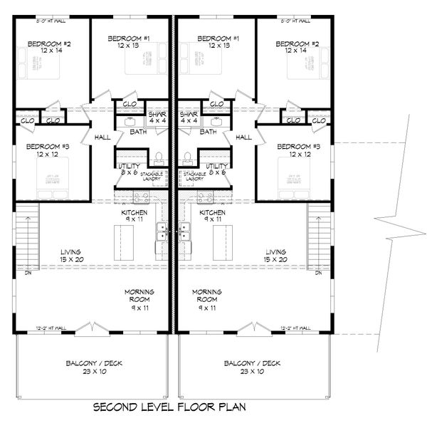 Contemporary Floor Plan - Main Floor Plan Plan #932-151
