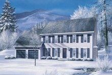 Home Plan Design - Colonial Exterior - Front Elevation Plan #57-112