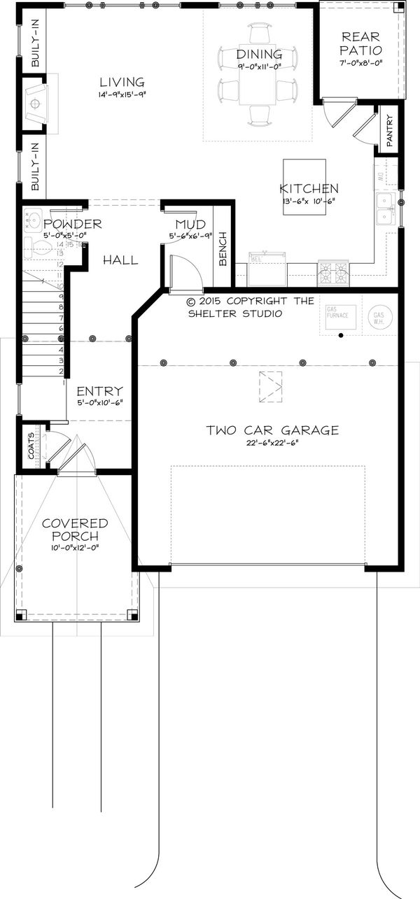 Traditional Floor Plan - Main Floor Plan Plan #895-42