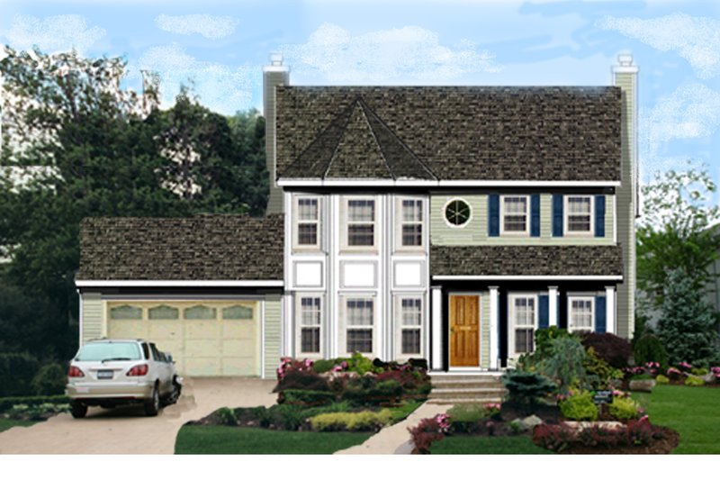 Home Plan - Traditional Exterior - Front Elevation Plan #3-271