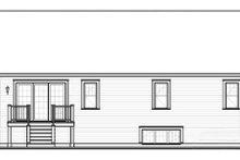 House Plan Design - Farmhouse Exterior - Rear Elevation Plan #23-2195