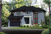Contemporary Style House Plan - 4 Beds 2 Baths 2979 Sq/Ft Plan #25-4339 Exterior - Front Elevation