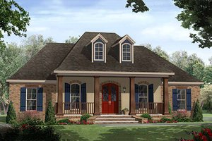 European Exterior - Front Elevation Plan #21-339