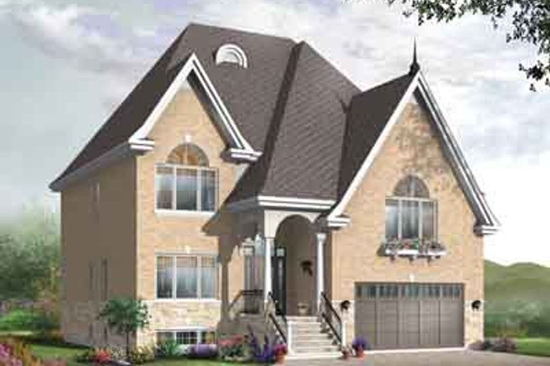 European Exterior - Front Elevation Plan #23-656