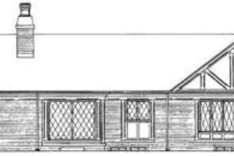 Traditional Exterior - Rear Elevation Plan #72-445 - Houseplans.com