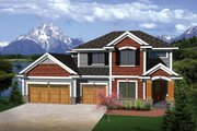 European Style House Plan - 4 Beds 2.5 Baths 2223 Sq/Ft Plan #70-1100 Exterior - Front Elevation