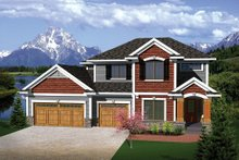 Home Plan - European Exterior - Front Elevation Plan #70-1100