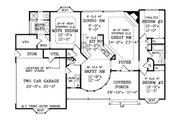 Victorian Style House Plan - 3 Beds 2.5 Baths 1466 Sq/Ft Plan #456-16 Floor Plan - Main Floor