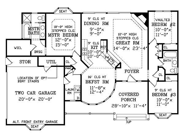 Victorian Floor Plan - Main Floor Plan Plan #456-16