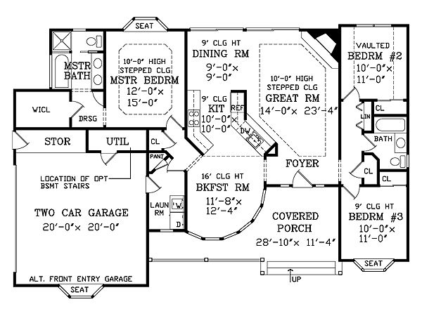 Victorian Floor Plan - Main Floor Plan #456-16
