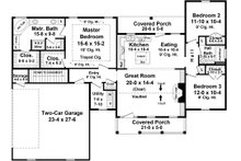 Traditional Floor Plan - Main Floor Plan Plan #21-446