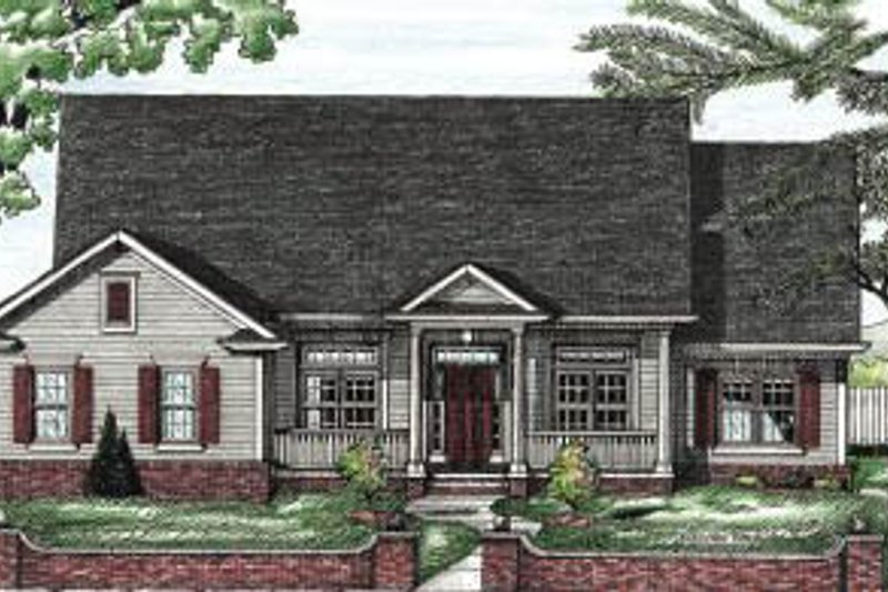 Traditional Exterior - Front Elevation Plan #20-622