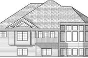 Traditional Style House Plan - 2 Beds 2 Baths 1859 Sq/Ft Plan #70-659 Exterior - Rear Elevation