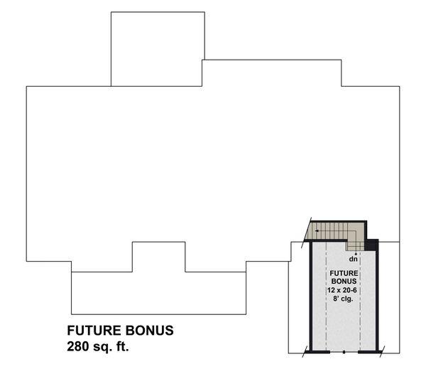 Farmhouse Floor Plan - Upper Floor Plan #51-1171