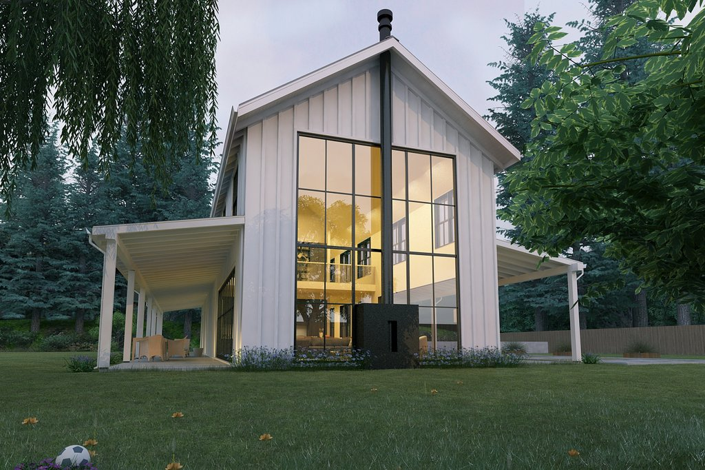 Modern Farmhouse style plan modern design home