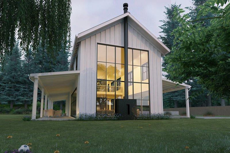 House Design - Modern Farmhouse style plan, modern design home