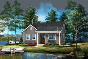 Architectural House Design - Cabin Exterior - Front Elevation Plan #22-618