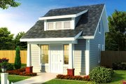 Cottage Style House Plan - 1 Beds 1 Baths 597 Sq/Ft Plan #513-2183 Exterior - Front Elevation