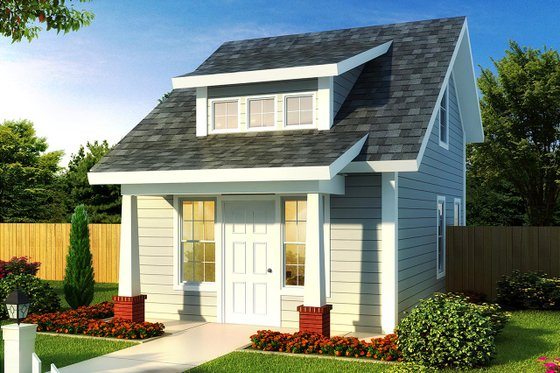 Cottage Exterior - Front Elevation Plan #513-2183