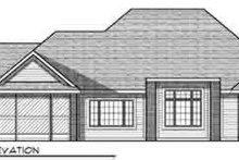 Dream House Plan - European Exterior - Rear Elevation Plan #70-838