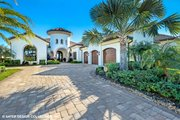 Mediterranean Style House Plan - 3 Beds 3.5 Baths 3700 Sq/Ft Plan #930-511 Exterior - Front Elevation
