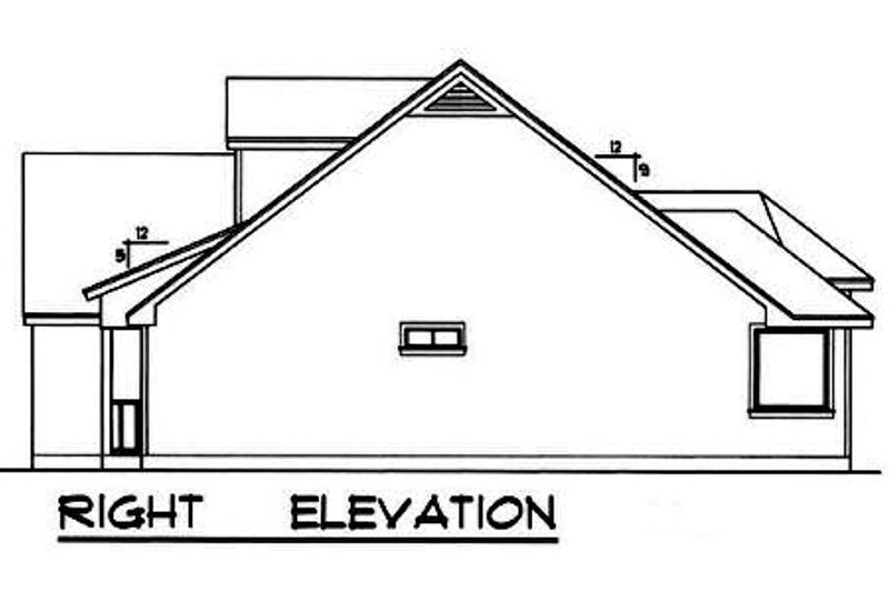 Farmhouse Exterior - Other Elevation Plan #40-253 - Houseplans.com