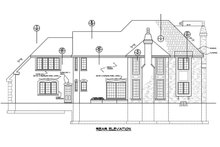 House Design - Traditional Exterior - Rear Elevation Plan #20-2300