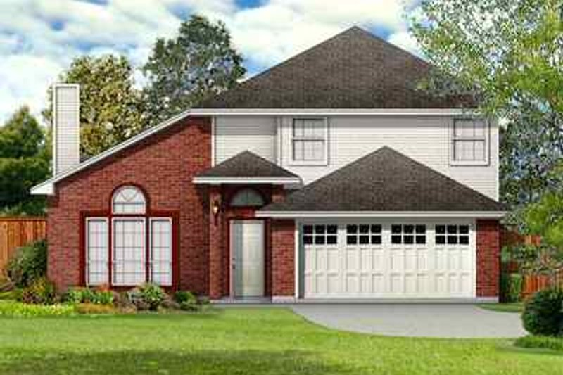 Traditional Exterior - Front Elevation Plan #84-126 - Houseplans.com