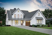 Dream House Plan - Contemporary Exterior - Front Elevation Plan #48-993