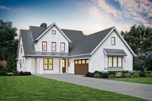 Contemporary Exterior - Front Elevation Plan #48-993