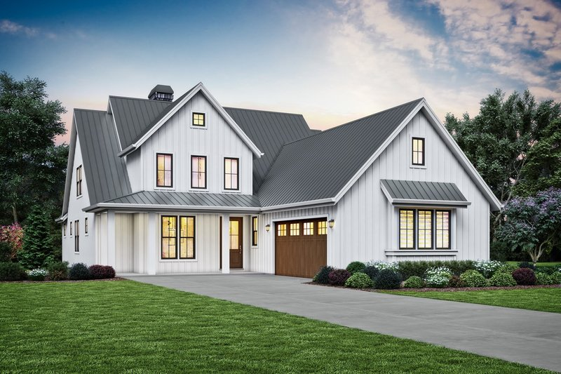 Contemporary Style House Plan - 3 Beds 2.5 Baths 2492 Sq/Ft Plan #48-993