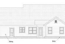 Country Exterior - Rear Elevation Plan #513-2095