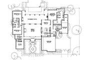 Mediterranean Style House Plan - 3 Beds 3.5 Baths 3633 Sq/Ft Plan #472-4 Floor Plan - Main Floor Plan
