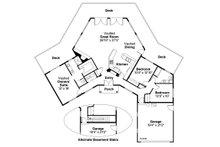 Contemporary Floor Plan - Main Floor Plan Plan #124-162