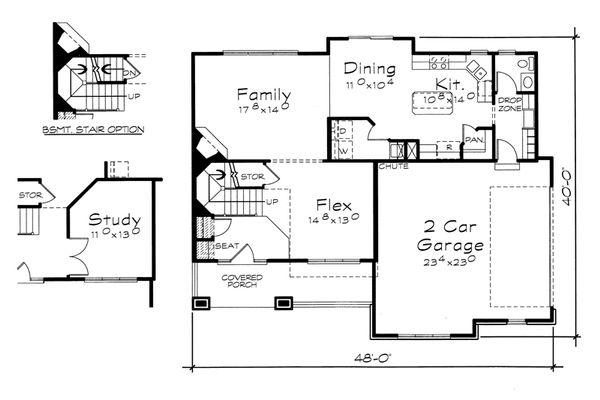 Home Plan - Traditional Floor Plan - Main Floor Plan #20-2153