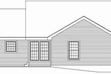 Architectural House Design - Traditional Exterior - Rear Elevation Plan #57-152