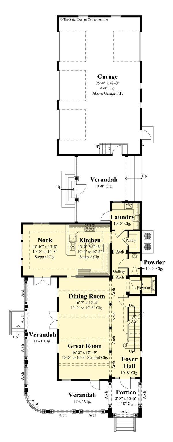 Dream House Plan - Classical Floor Plan - Main Floor Plan #930-526